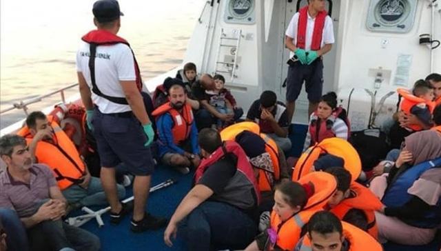 Balıkesir'in Ayvalık ilçesinde 41 düzensiz göçmen yakalandı