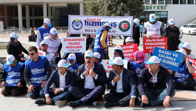 Bolu Belediyesi'nde haksız yere işten çıkarılan işçilerin oturma eylemi sürüyor