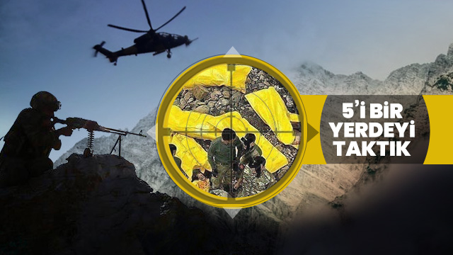 Diyarbakır'da yapılan operasyonda, toplam 5 terörist etkisiz hale getirildi