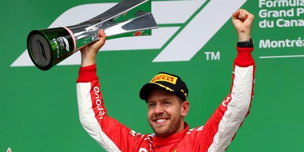 Kanada Grand Prix'sinde Sebastian Vettel birinci oldu
