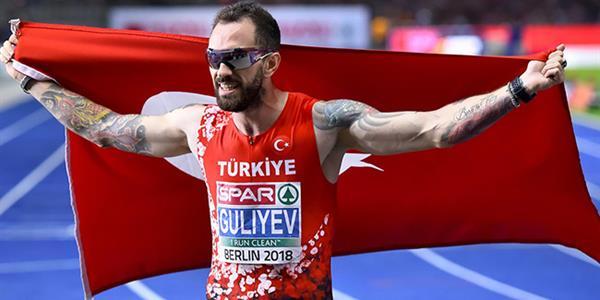 Avrupa şampiyonu Ramil Guliyev madalyasını aldı