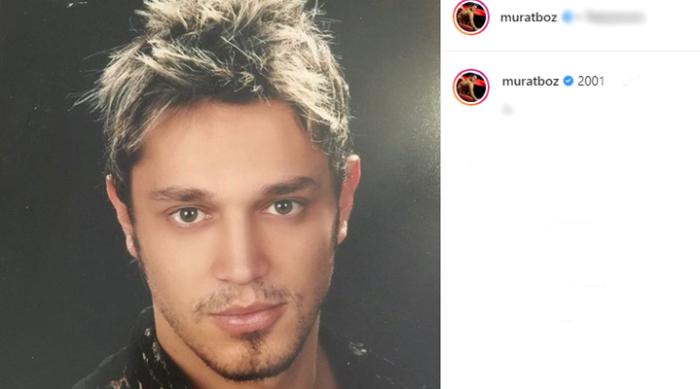 """Murat Boz, 2001 yılında çekilen vesikalık fotoğrafını """"2001..."""" notuyla sosyal medya hesabından takipçileriyle paylaştı."""